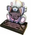 Carver Me-to-You Teddy holding Butterfly 6' thick for Baby Grave
