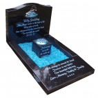 Black Granite Kerbset Memorial for Baby Grave