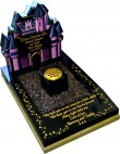 Black Granite Fairy Princess Castle Memorial for Baby Grave